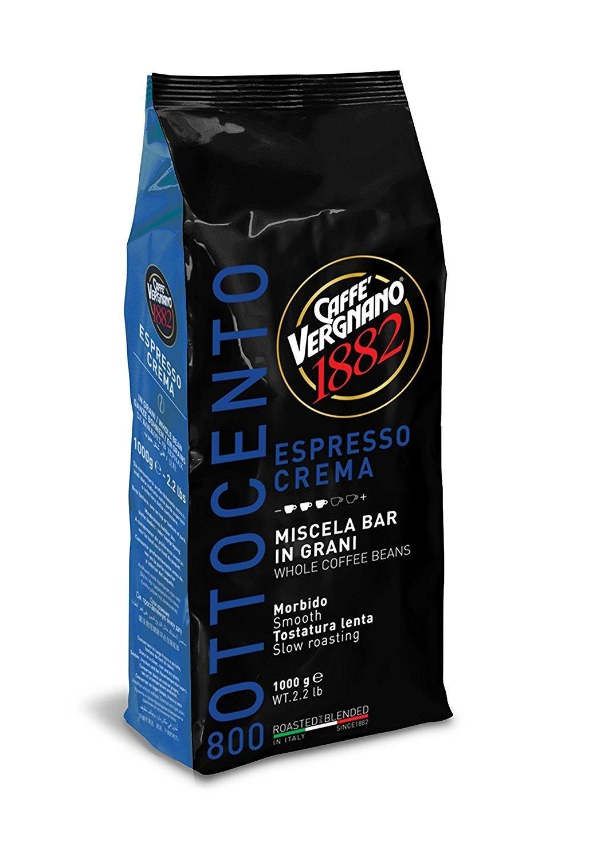 მოხალული მარცვალი 80% ARABICA 20% Robusta-Coffee Vergnano - 1 კგ (Crema 800)